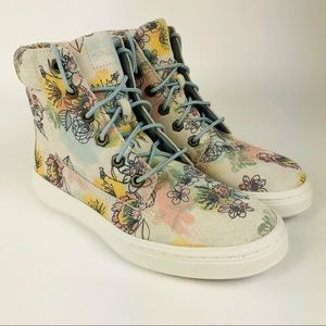 Timberland Londyn Floral Suede Sneaker Boots 6 New